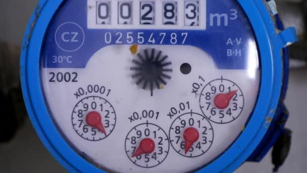 Měřicí zařízení vody spotřeba čítač v sanitární instalace