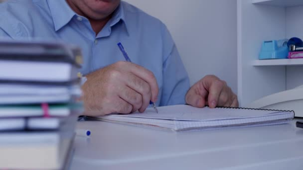 Businessman Working with Documents Draw a Business and Financial Chart