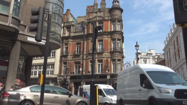London Neighborhood with Streets and Buildings with Old Architecture