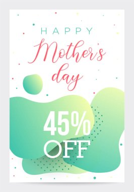 Banner template for business, Mothers Day sale, colorful abstract shapes background