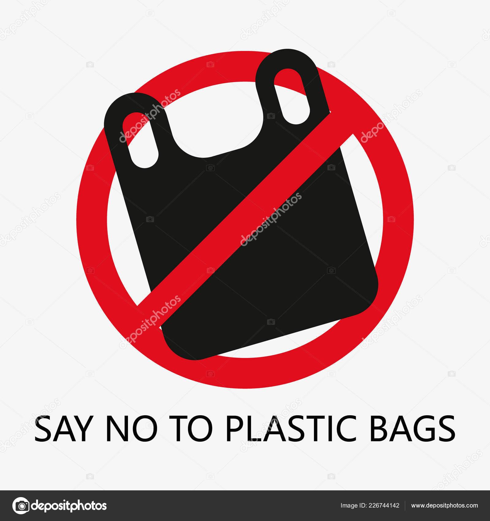 Concepto Problema Contaminación Decir Las Bolsas Plástico Dibujos