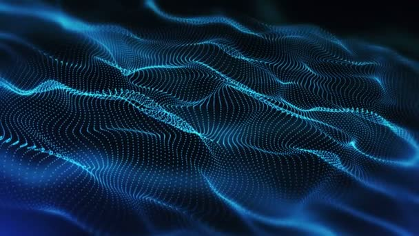 4k Blue Moving Particles Backgrounds  Loop