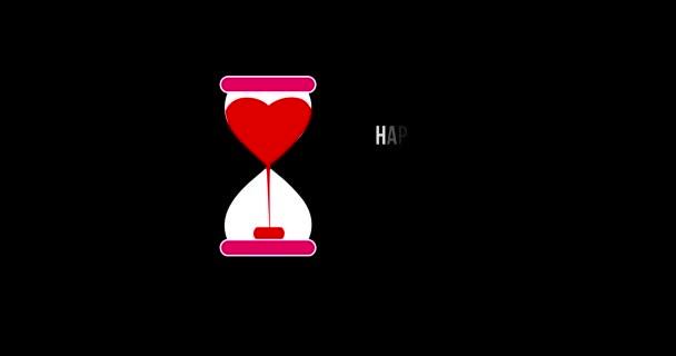 Romantické zázemí pro den svatého Valentýna. Romantické létání srdce krásné srdce pozadí bezešvé smyčka .