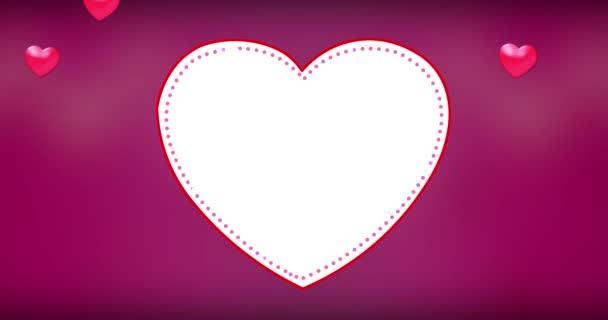 4k romantikus repülő szív szív szép hátteret varrat nélküli hurok. Valentin-nap, anyák napja, esküvői évfordulója üdvözlőlapok,
