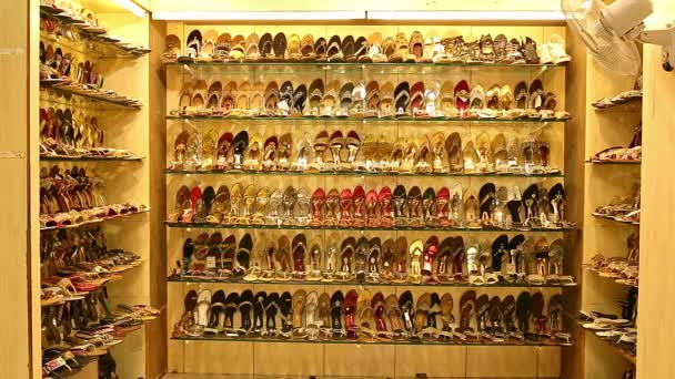 002c8ec550c Many types of leather shoes at shoes shop. Exquisite wedding shoes ...