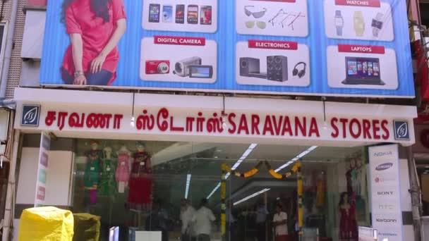 CHENNAI, INDIA - APRIL 05, 2019: Saravana stores building exterior  establishing shot