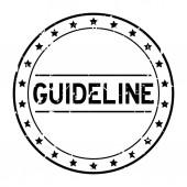 Grunge black guideline word round rubber seal stamp on white background