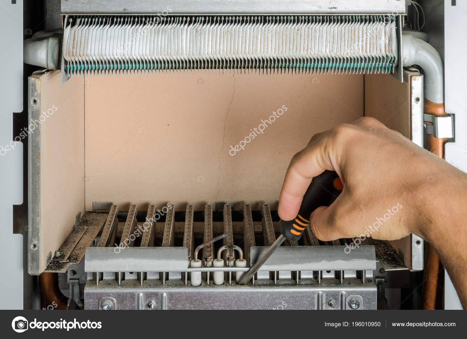 Gas Brenner Kessel Heizung Reparieren — Stockfoto © charlos.ukr.net ...