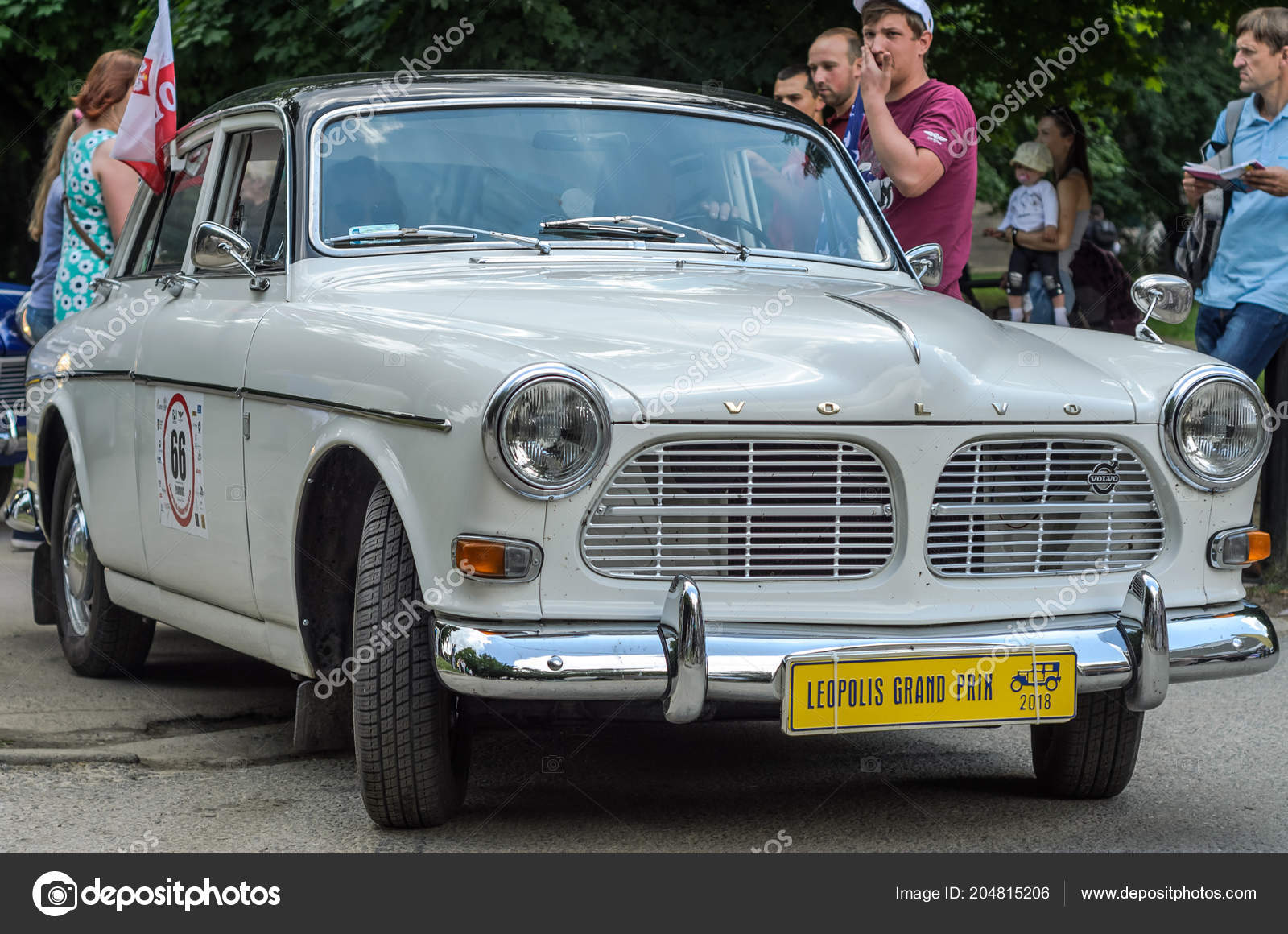 Lviv Ukraine June 2018 Old Vintage Retro Volvo Car Rides Stock