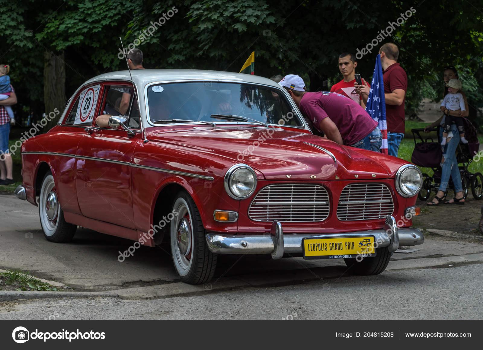 Lviv Ukraine June 2018 Old Vintage Retro Volvo Car Rides