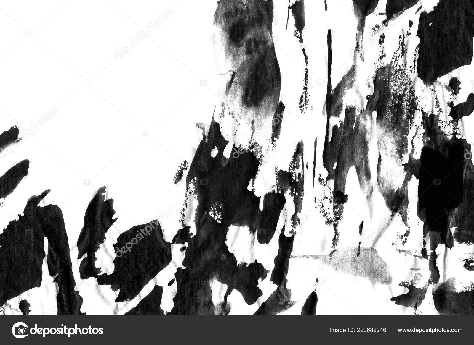 Abstract Black Ink Stain Chinese Ink Background Watercolor