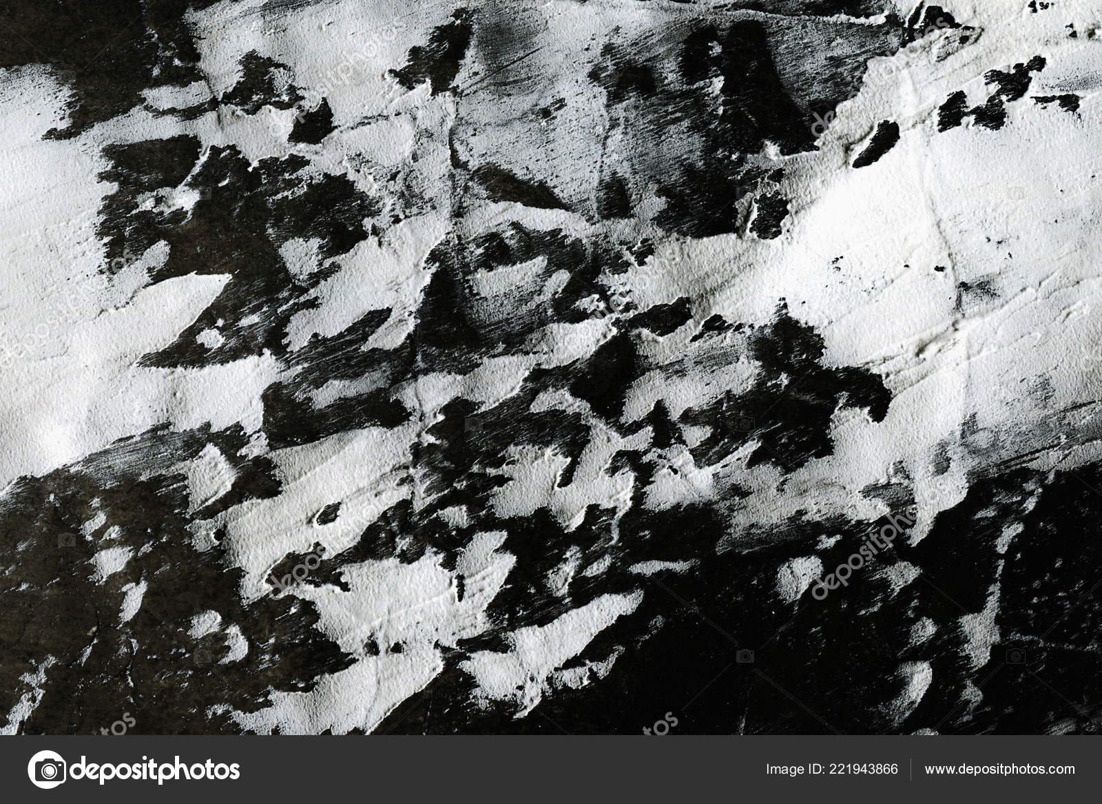 Abstract Ink Background Marble Style Black Paint Stroke