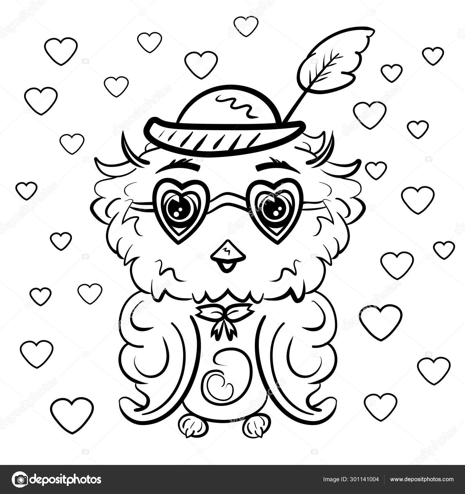 Cute Owl Valentine's Day Coloring Page - Free Printable | No, YOU ... | 1700x1600