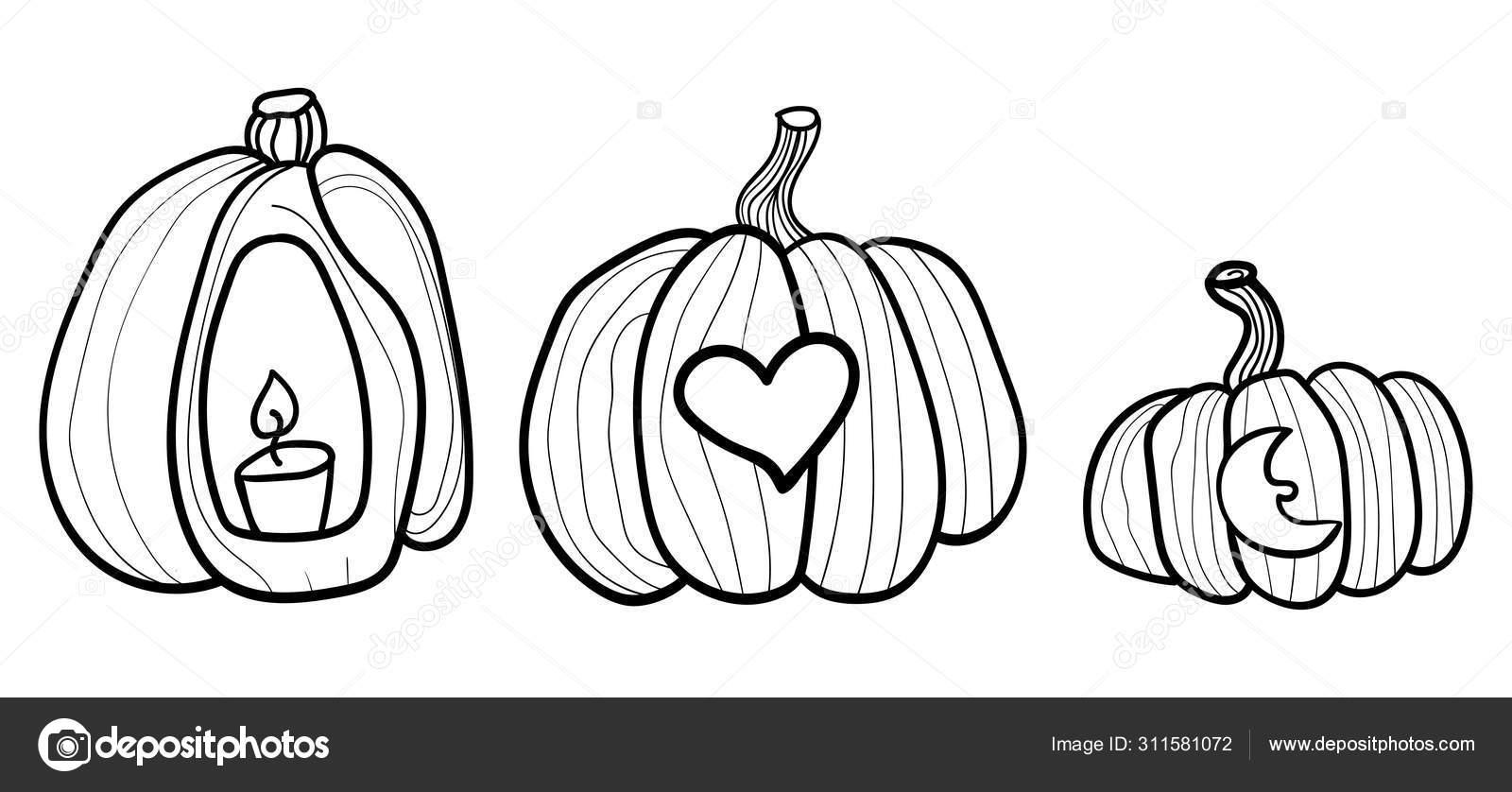 Intagliare Zucca Per Halloween Disegni grande zucca arancione. zucca e halloween. disegno da