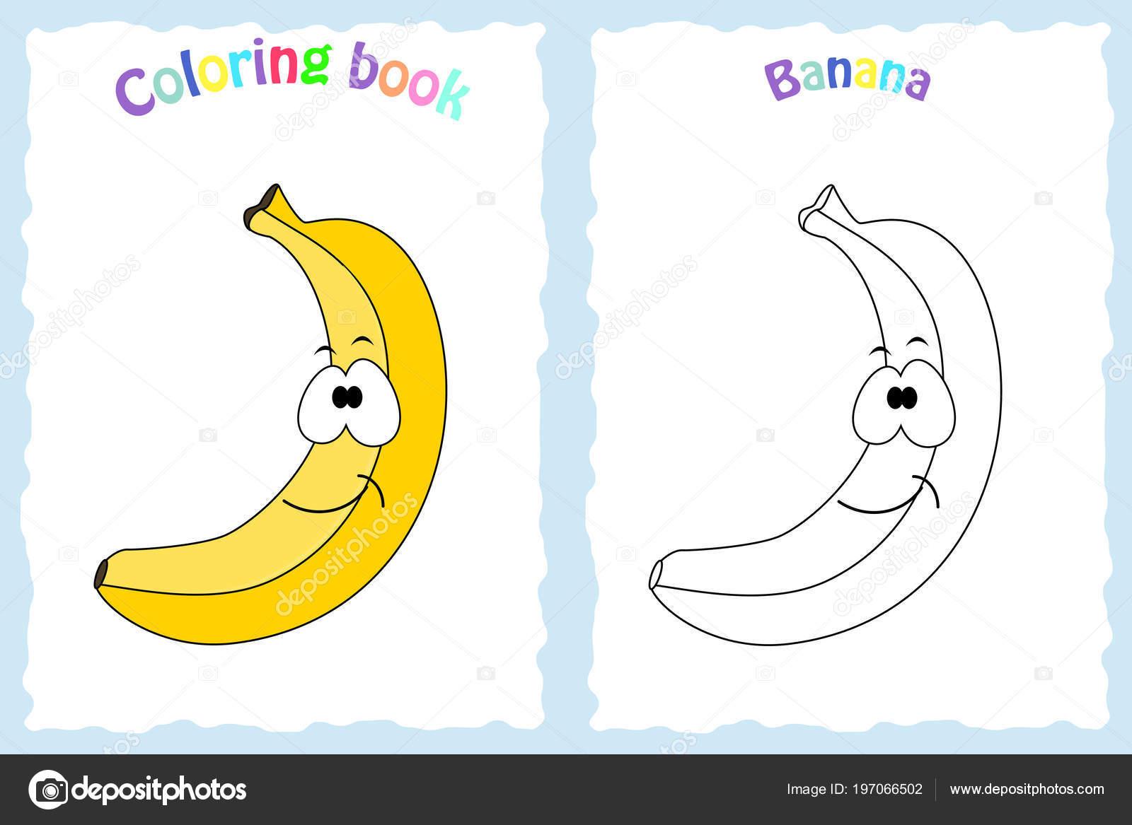 Pagina Para Colorear De Preescolar En Color Para Con: Dibujos: Platanos Para Niños