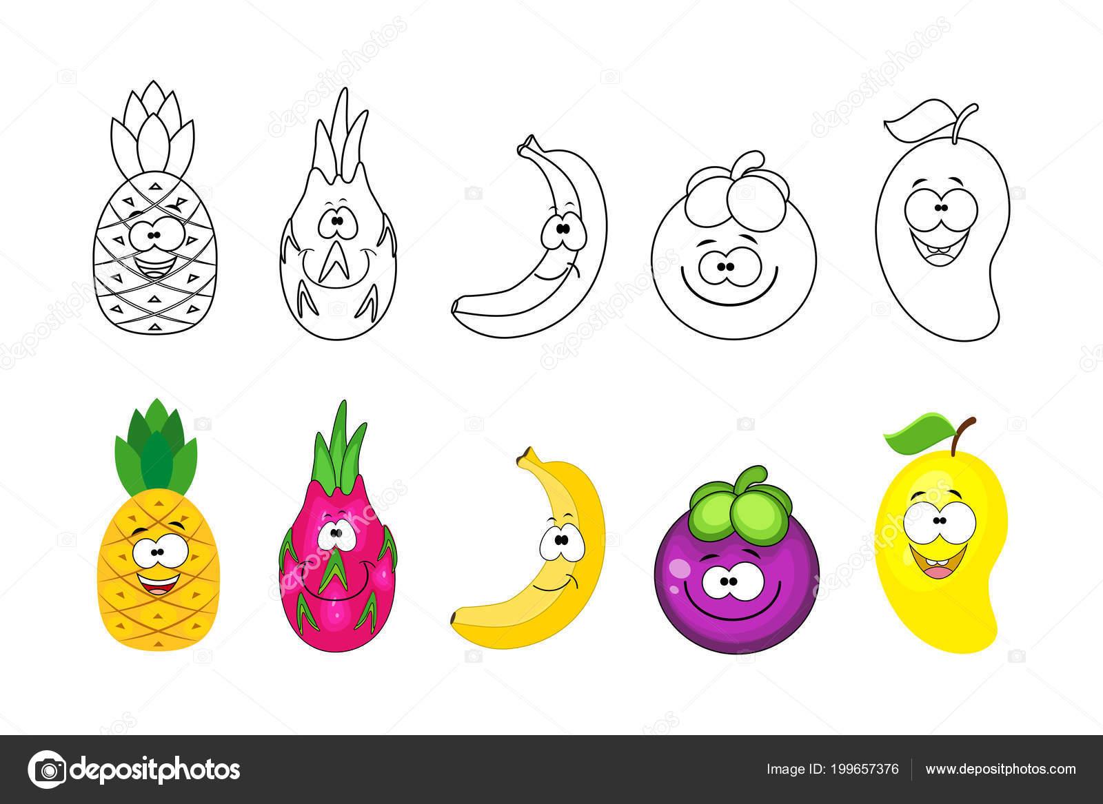 Imagenes Animadas Para Colorear: Imágenes: Fruta De Mango Para Colorear