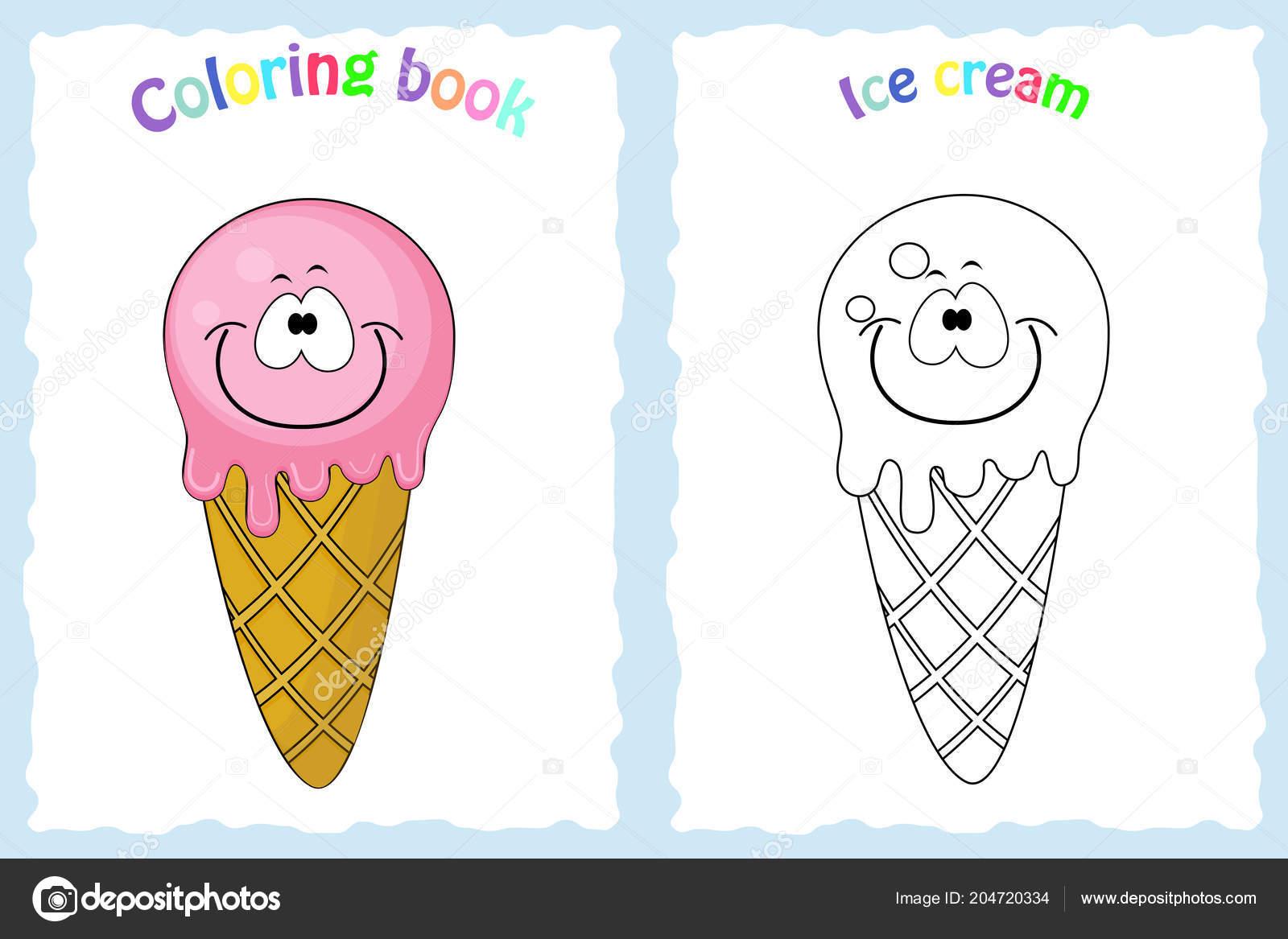 Kleurplaat Boekenpagina Voor Kinderen Met Colorfulice Creme En Ske