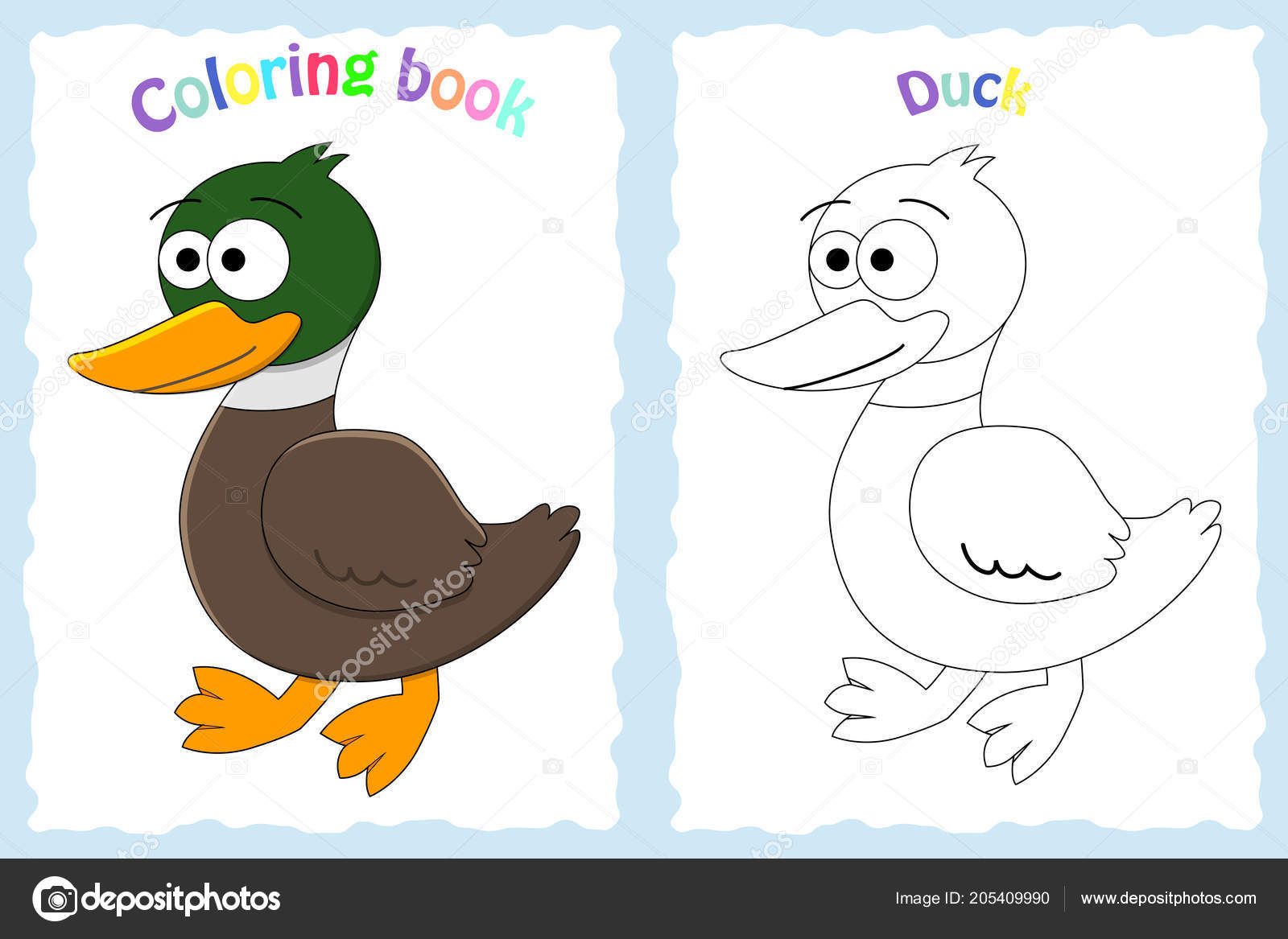 Coloring Book Page For Preschool Children Stock Vector C Budolga