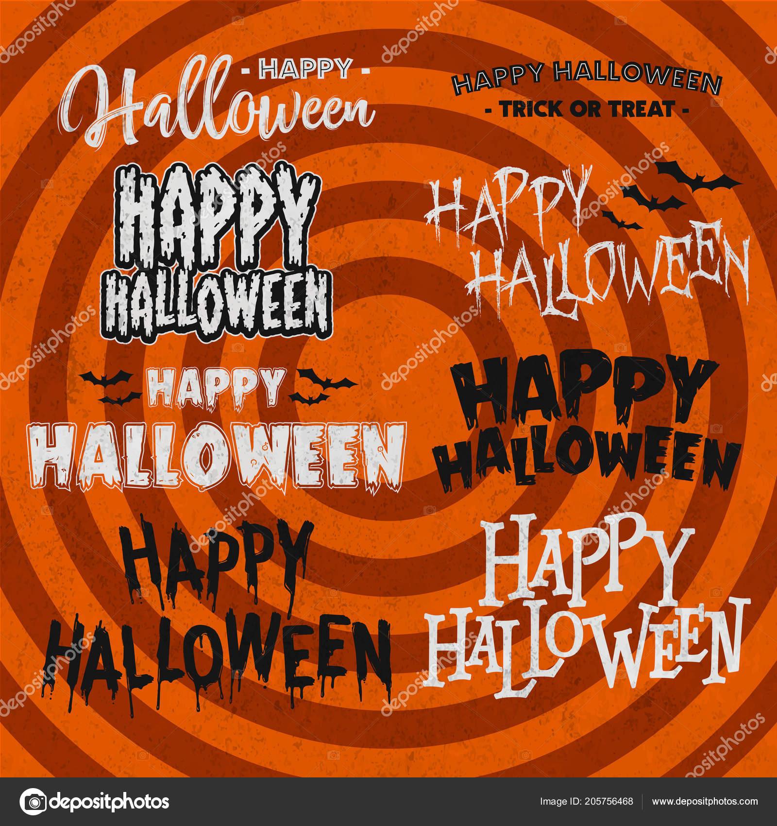 Sistema Citas Celebración Halloween Letras Frases Palabras