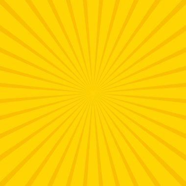 Yellow abstract sun rays vector background