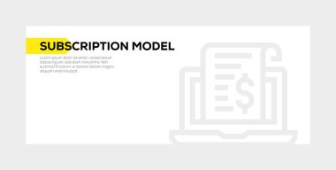 SUBSCRIPTION MODEL BANNER CONCEPT