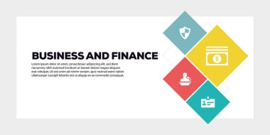 BUSINESS AND FINANCE BANNER CONCEPT illustration stock vector