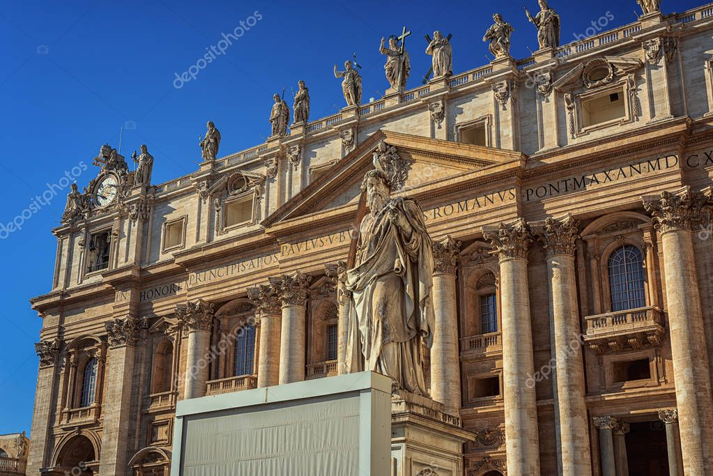 St. Peters Basilica. St. Peters is the most renowned churches in Vatican City