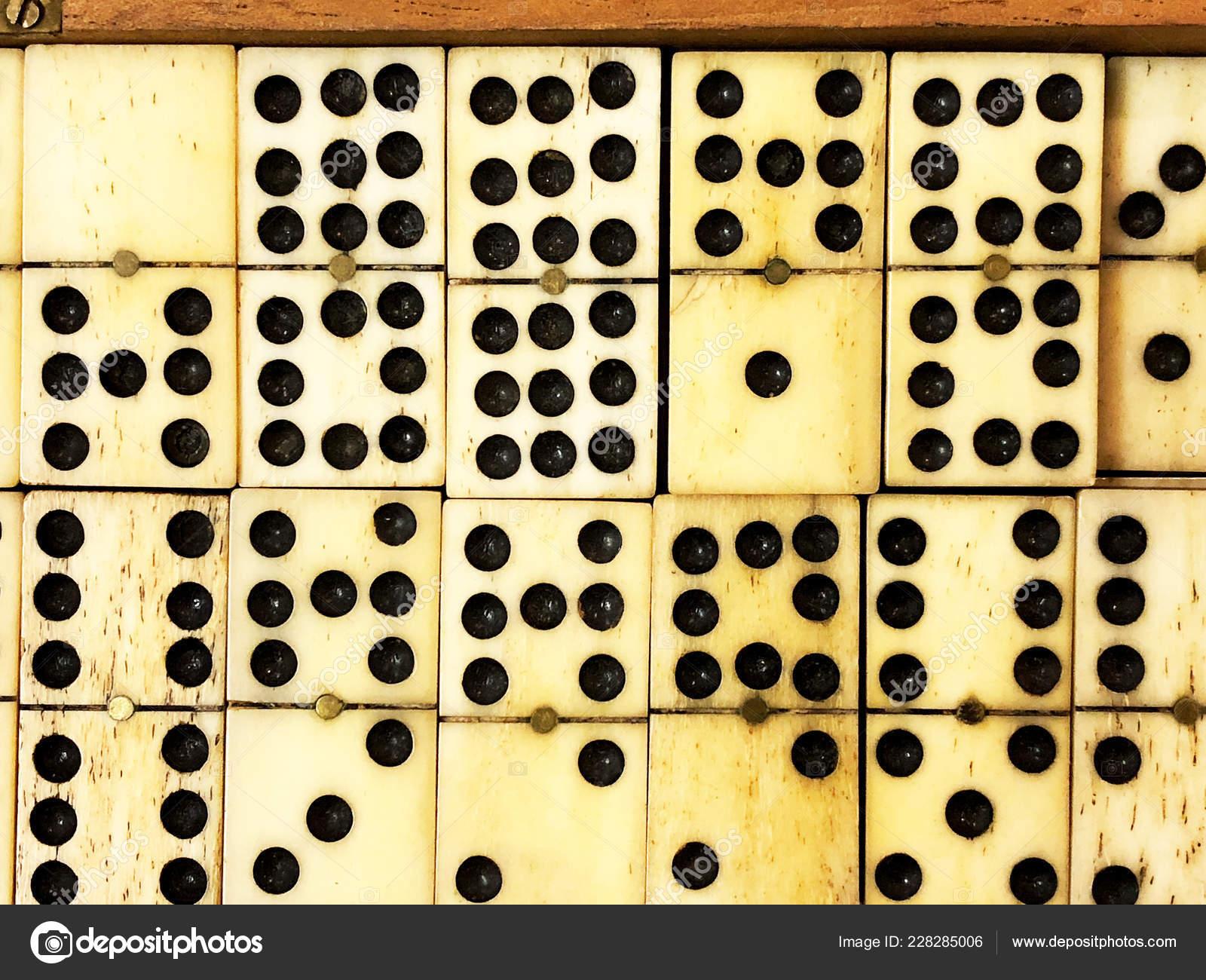 Antique Ivory Handmade Dominoes Wooden Box Stock Photo Dianecmac