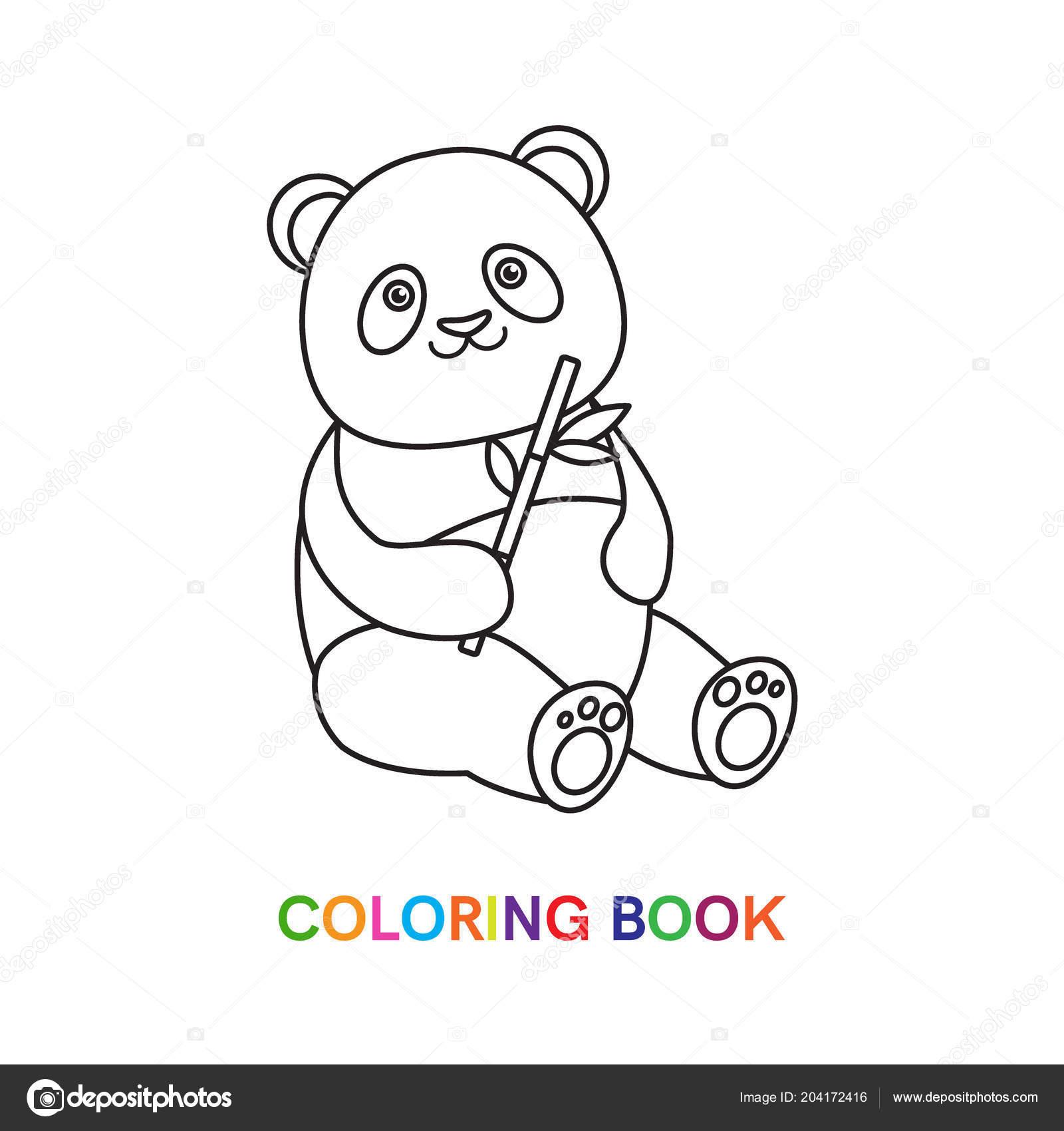Panda Boyama Kitabı Için Stok Vektör Romalka 204172416