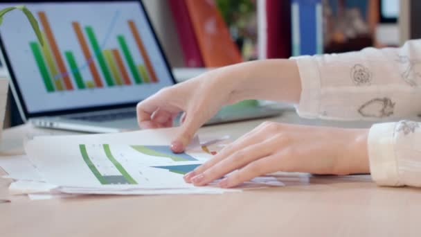 Business woman working with financial report. Business documents