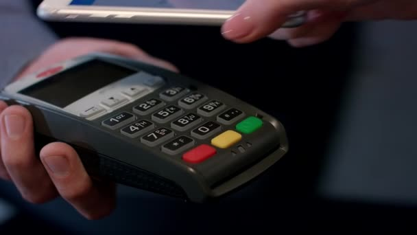Payment transaction with smartphone  Mobile NFC payment technology