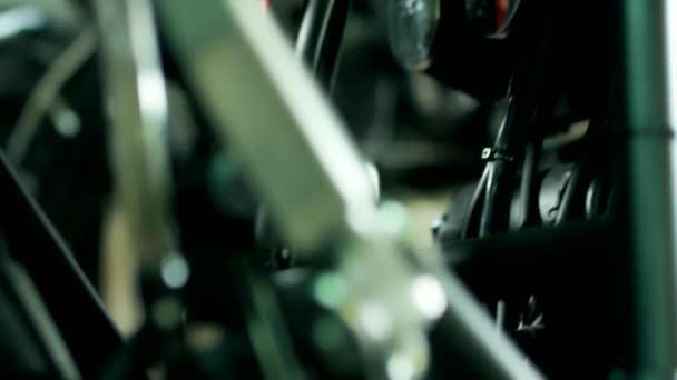 Chopper Moto pozadí. Retro motorka detail