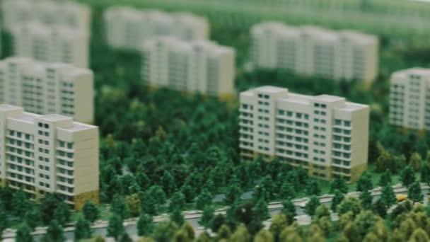 Architecture model of condominium quarter in town  Urban planning