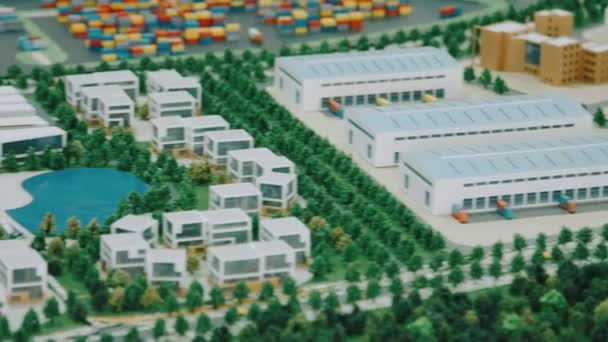 Model průmyslové zóny, komerčních nemovitostí a bytových prostor