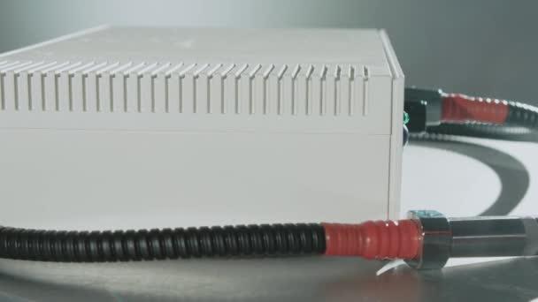 Elektrochirurgická jednotka chladné plazmy. Zblízka špičkové technologie lékařské vybavení