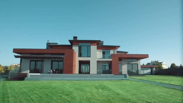 Luxury modern house. Private residance. Expencive residential villa.