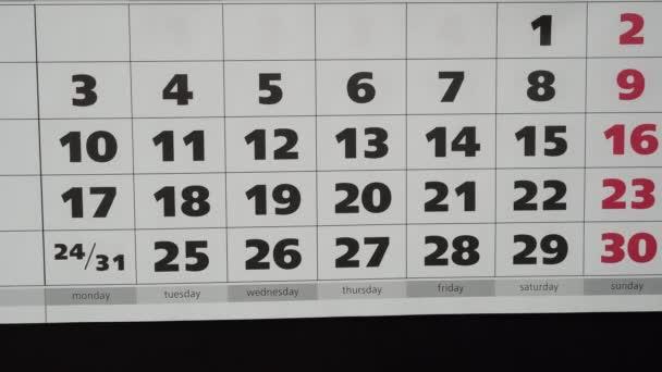Az ötlet a nyaralás új évben 2019, a naptár és a matricák.