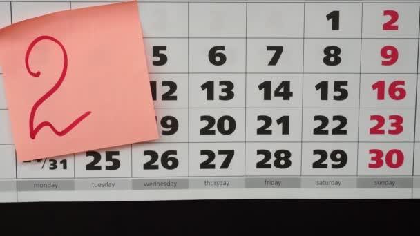 Újévi ünnep 2019 fogalom, a naptár és a matricák.