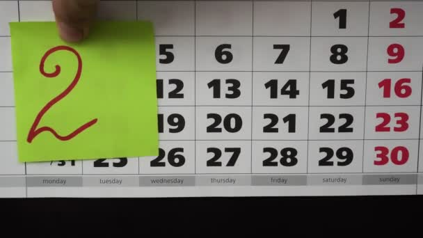 Új év 2019. Holiday koncepció, színes matricákon a Hivatal naptár.