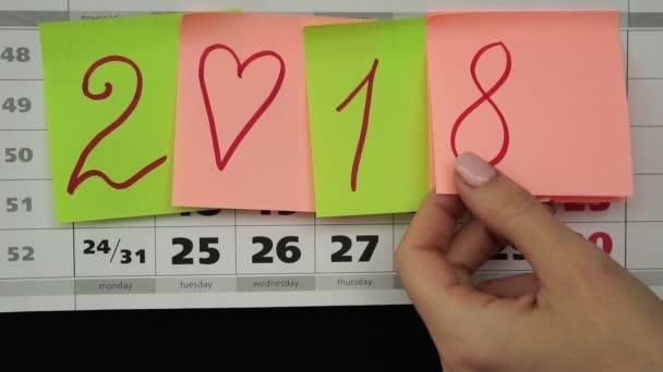 A koncepció egy új év 2019. Office naptár 2019.