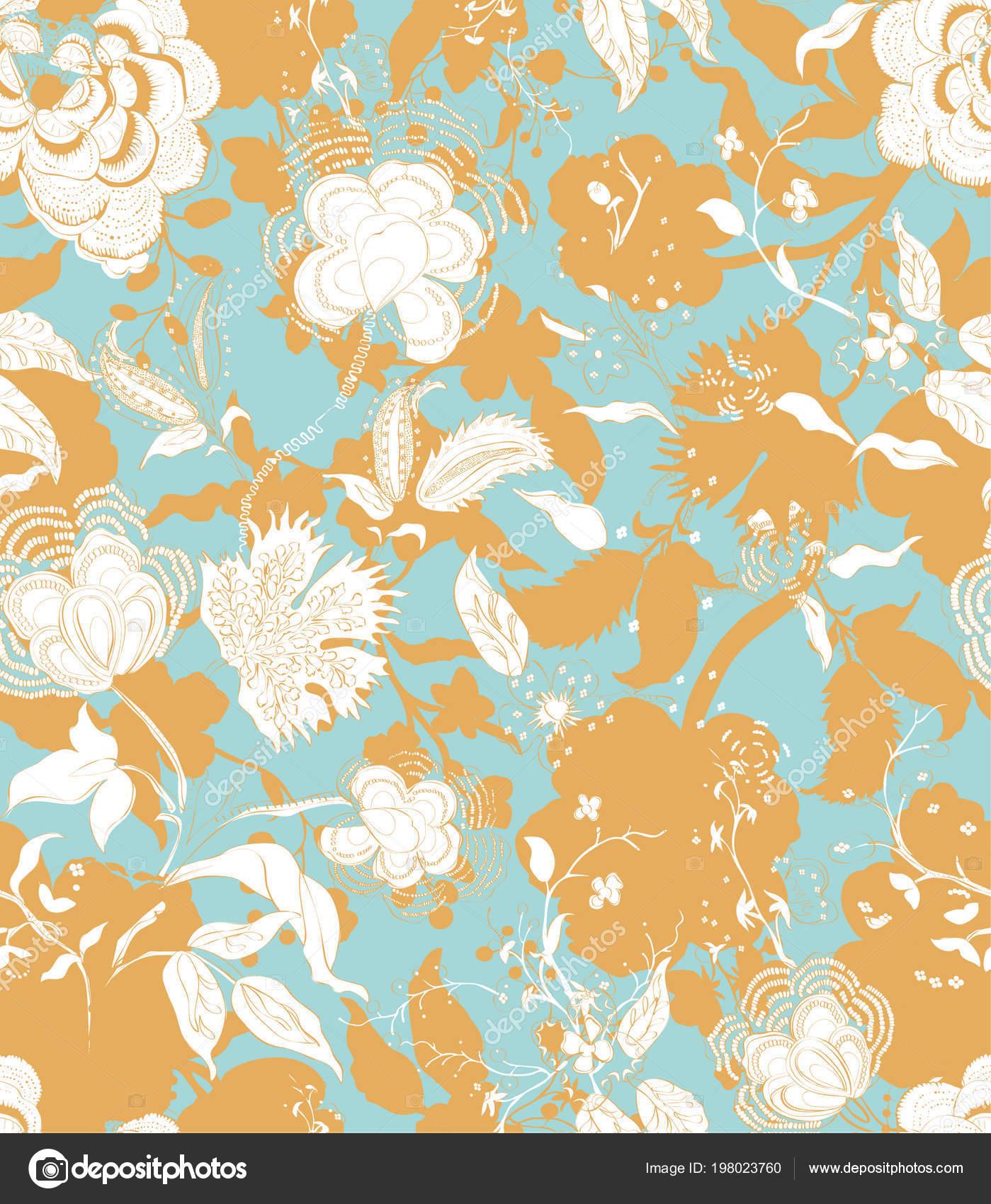 Modèle Vintage Décoration Fond Floral Sans Soudure Toile De Fond