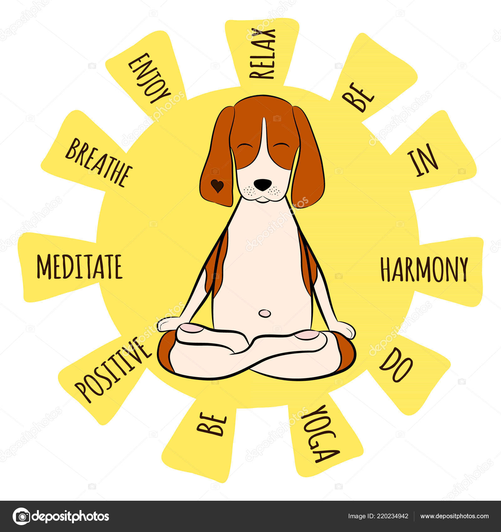 Images Dog Yoga Cartoon Image Cartoon Funny Dog Beagle Sitting Lotus Position Yoga Beagle Stock Vector C Yanabolbot Gmail Com 220234942