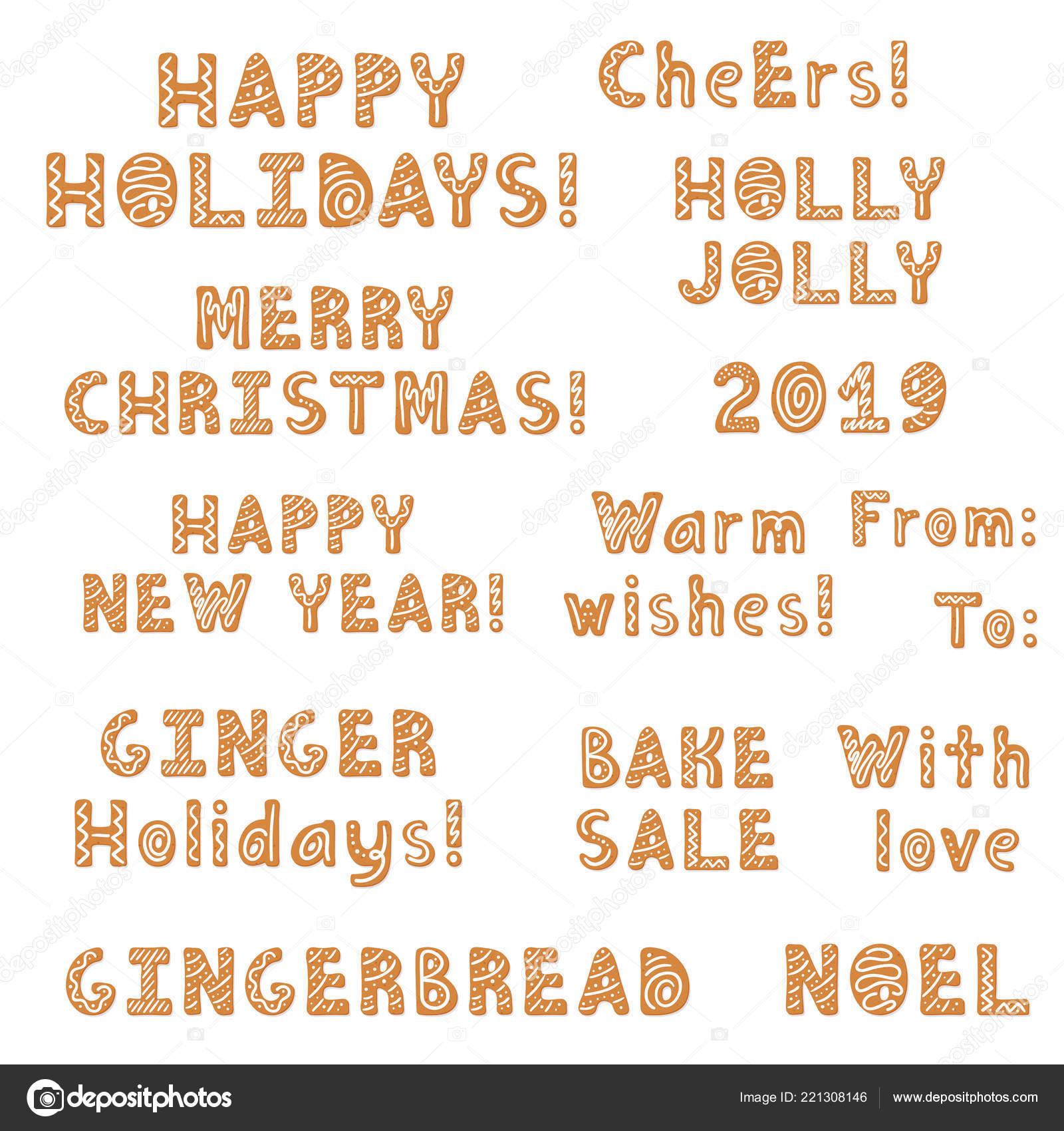 Frasi 1 Natale Insieme.Insieme Natale Biscotti Lettering Citazioni Frasi Decorati Glassa