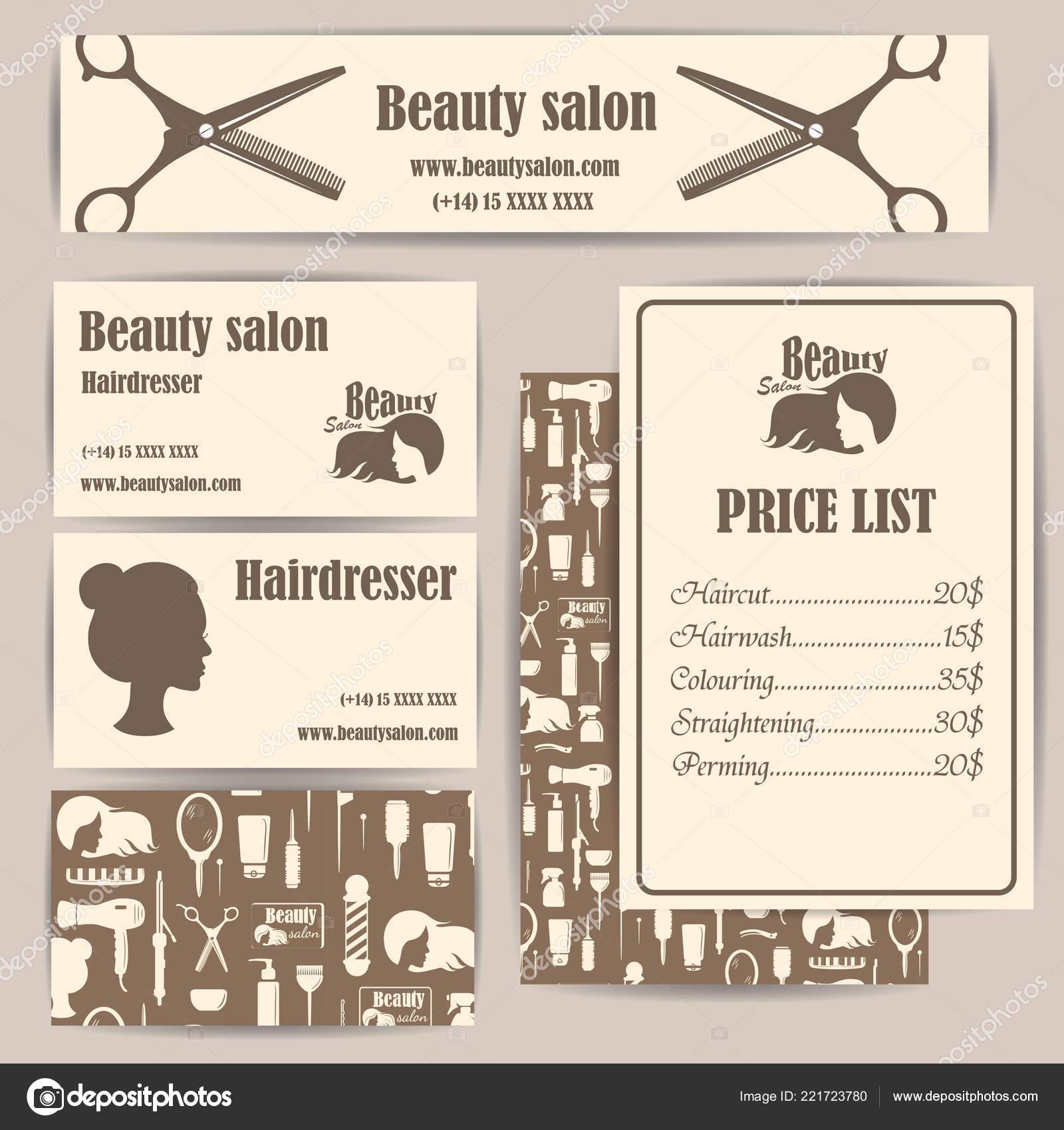 Beauty Salon Barbershop Vintage Visitenkarten Und Preise