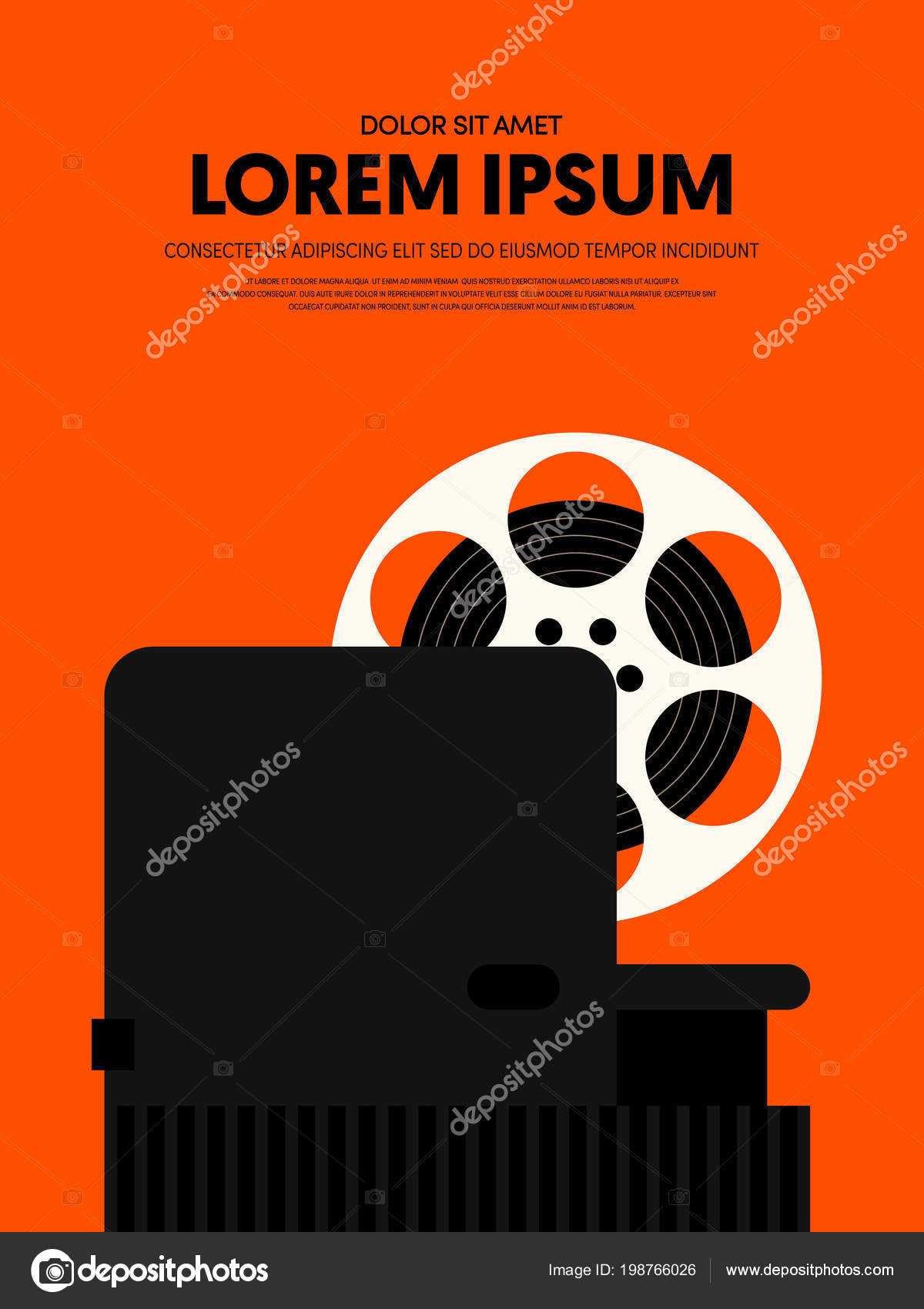 Movie Film Modern Retro Vintage Poster Background Design Element