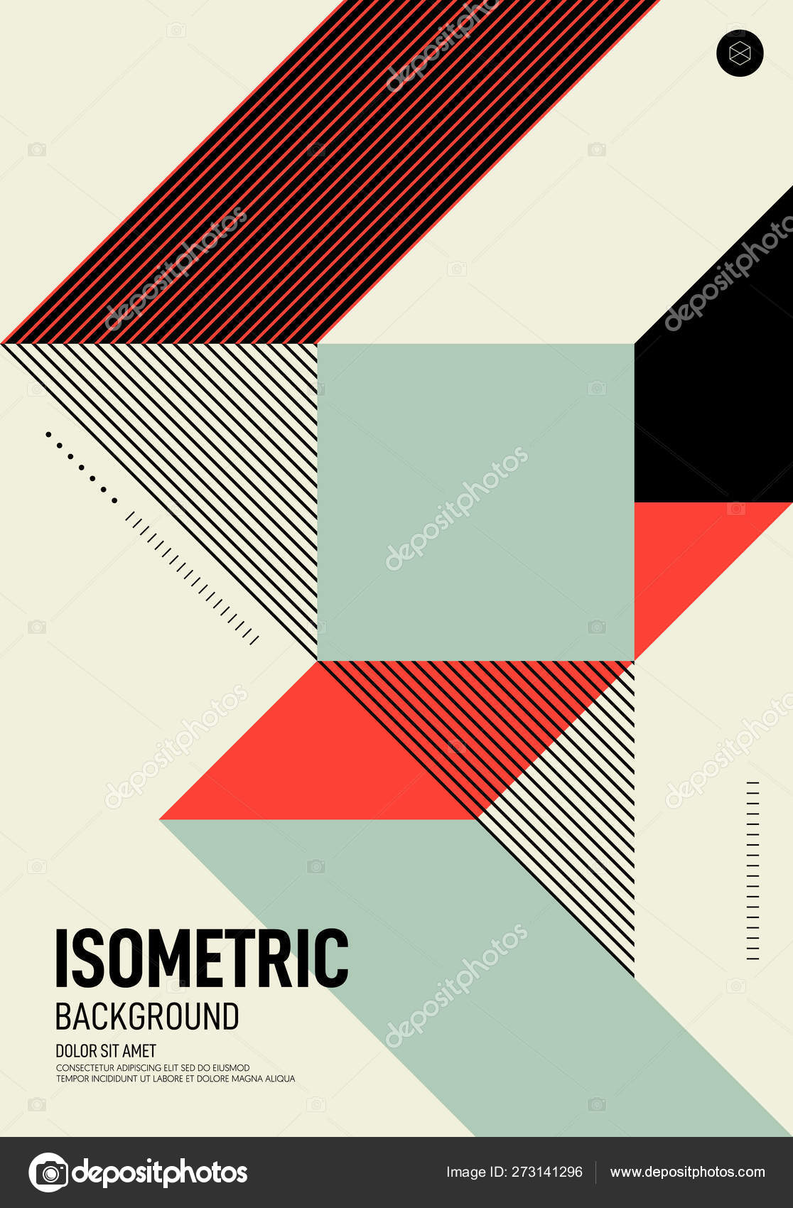 Abstract Isometric Geometric Shape Layout Poster Design Template Background Stock Vector C Thenatchdl 273141296,Abstract Geometric Line Design