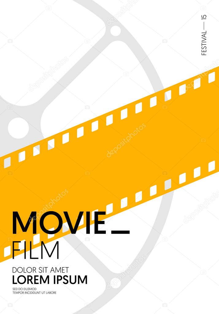 Movie And Film Poster Modern Vintage Retro Style Graphic Design Template Can Be Used For Background Backdrop Banner Brochure Leaflet Flyer Print Publication Vector Illustration Premium Vector In Adobe Illustrator Ai