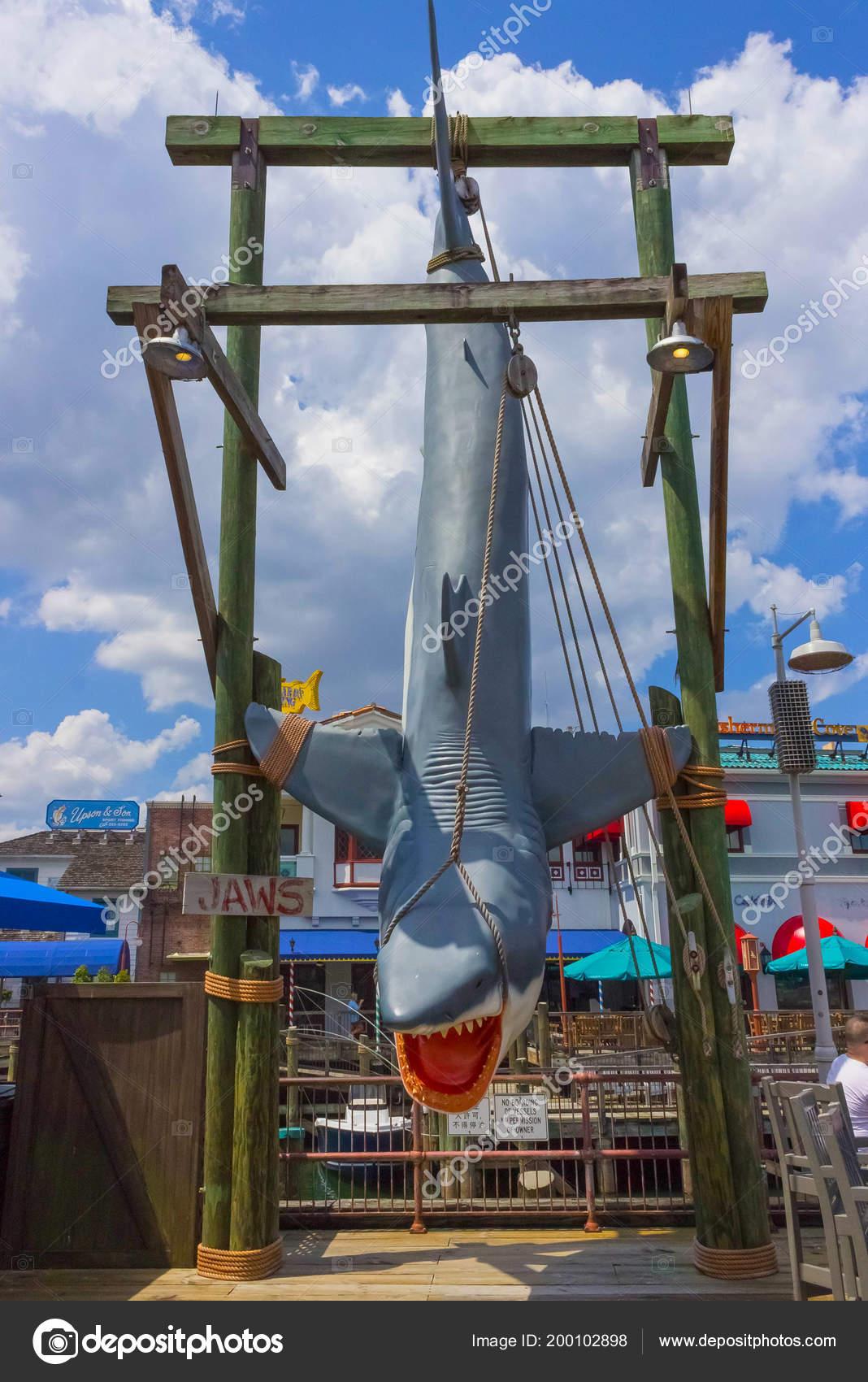 Map Of Universal Studios Florida.Orlando Florida Usa May 10 2018 The Jaws Of A Shark At Park