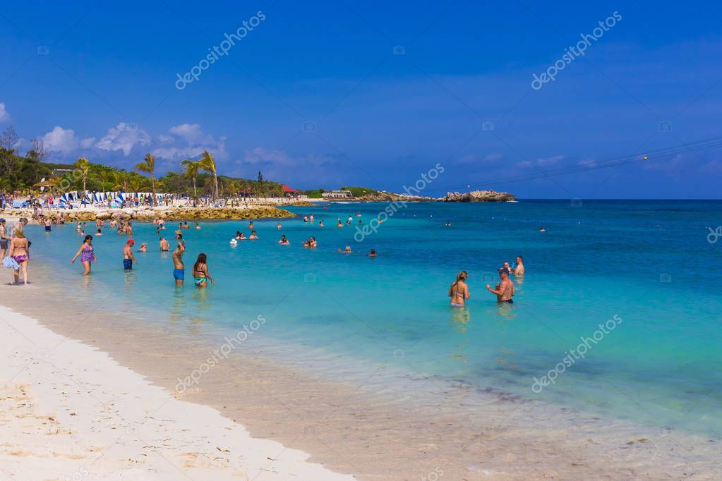 LABADEE, HAITI - MAY 01, 2018: People enjoying day on beach in Haiti