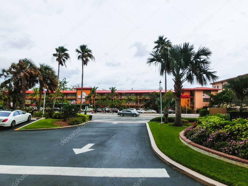 Ft.Lauderdale, USA - May 12, 2018: Ft.Lauderdale Beach Resort Hotel and suites.
